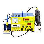 Паяльна станція BAKU BK909S фен, паяльник, БЖ 15V 1A, тестер, стрілкова і цифрова індикація, RF індикатор, MP3/FM-плеєр