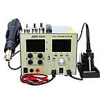 Паяльна станція AIDA 9305D фен, паяльник, блок живлення 30V 4.5 A, USB 5V 2A A, цифрова індикація