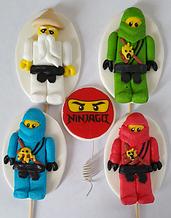 """Украшения на торт (мастика) """"Лего Ниндзяго"""""""