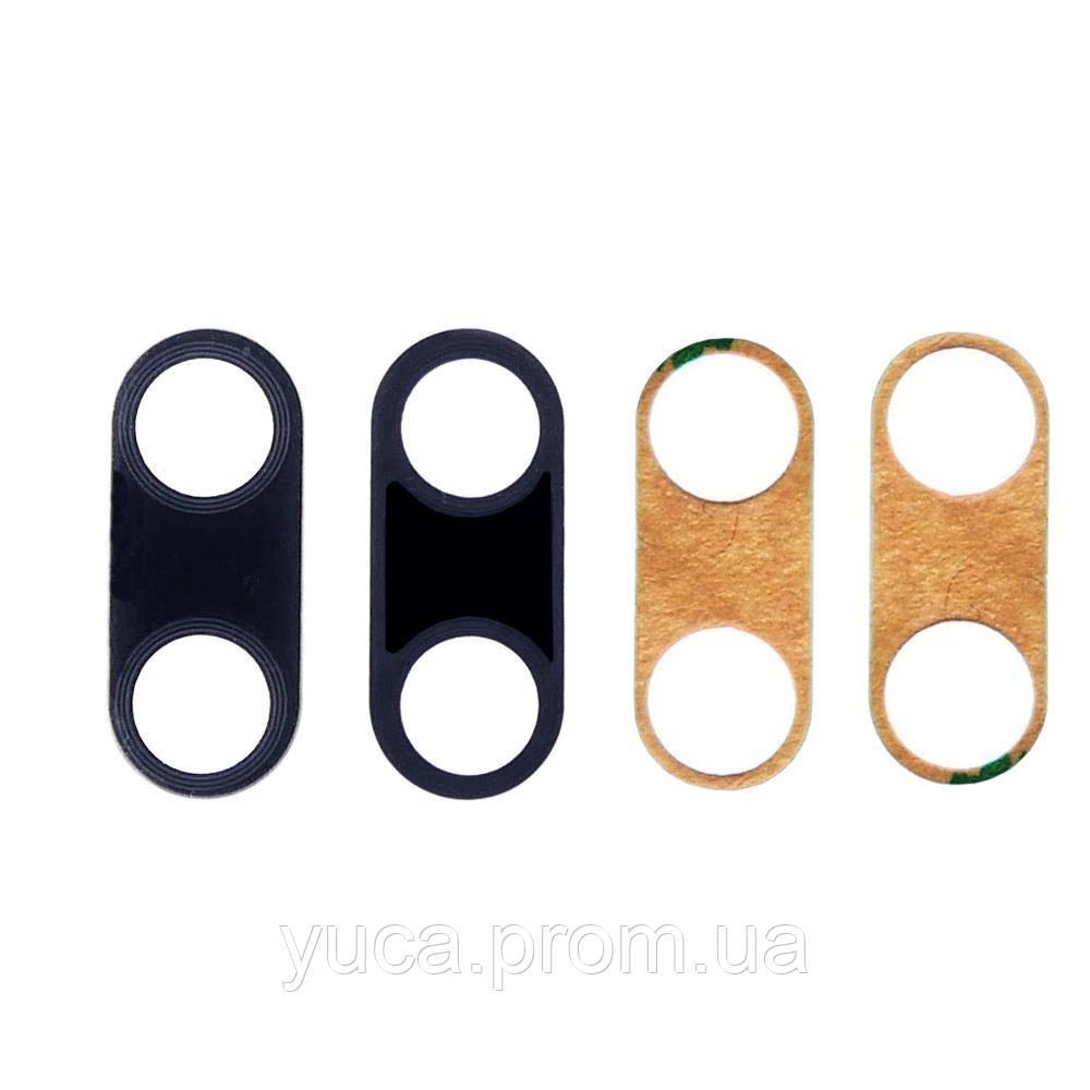 Скло камери для Huawei P20 чорне