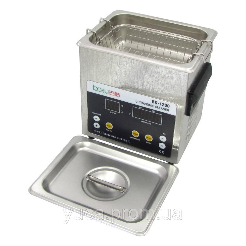 Ультразвуковая  ванна BAKU BK-1200 с функцией дегазации жидкости (1.6L, 60W, 40 kHz, подогрев до 80 гр. C, таймер до 99 мин.)
