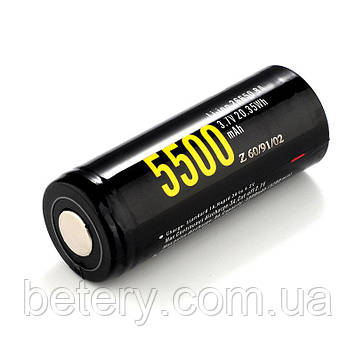 Аккумулятор Soshine 26650P-3.7-5500 3,7V 5500mAh +эл. (1шт.)