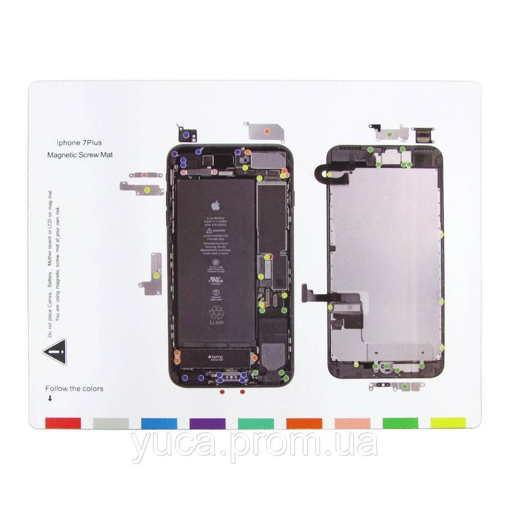 Магнітний мат MECHANIC iP7 Plus для розкладки гвинтів і запчастин при розбиранні iPhone 7 Plus