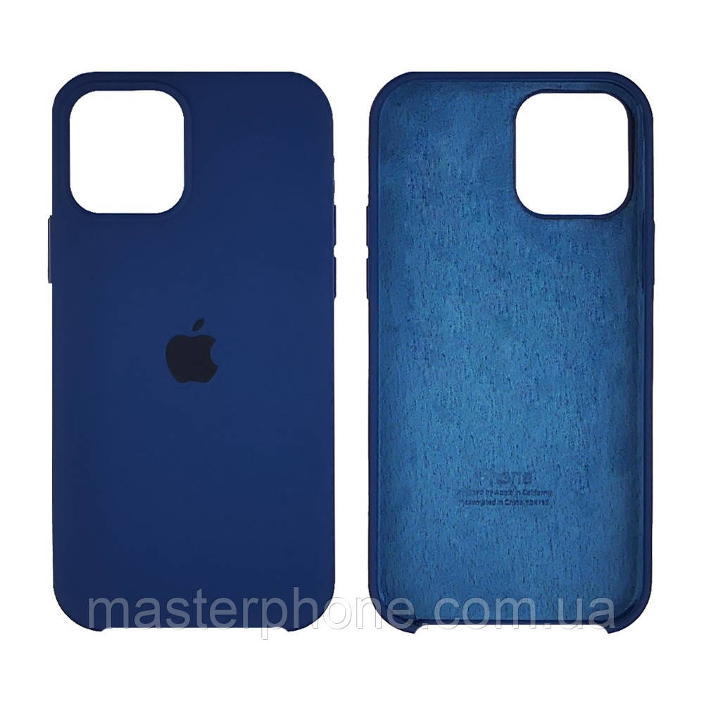 Чохол Silicone Case для Apple iPhone 12/ 12 Pro Cobalt blue