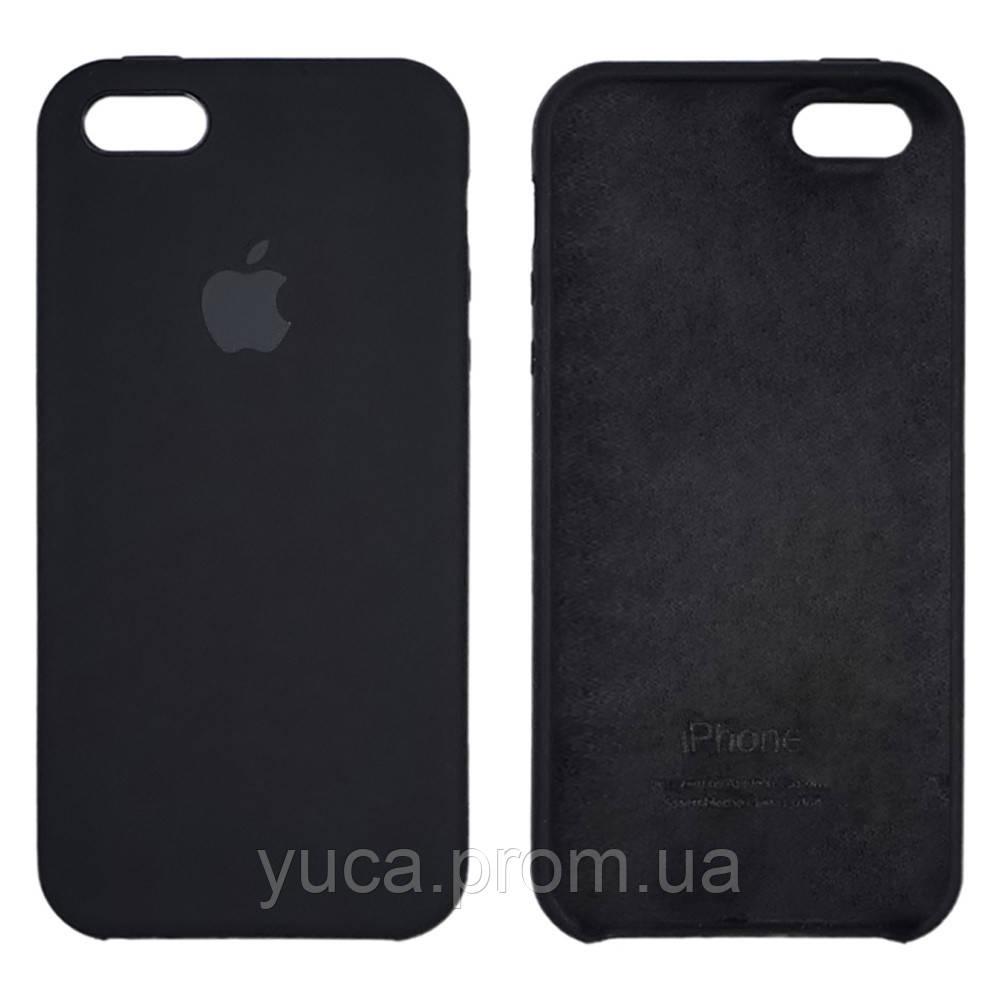 Чехол Silicone Case  для Apple  iPhone 5/ 5S/ 5C/ SE Black