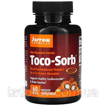 Jarrow Formulas, Toco-Sorb, смесь токотриенолов и витамина Е, 60 мягких таблеток
