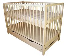 Детская кроватка с ящиком 120 х 60 см