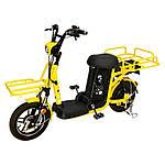 "Електро-велоскутер вантажний SZOUX GIANT, жовтий, колеса 14"", моторколесо 350W, акумулятор 48V 20Ah (960Wh)"