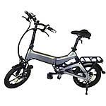 "Електровелосипед Nakxus 16KF1, чорний, колеса 16"", складаний, моторколесо 250W, акумулятор 36V 6Ah (216Wh)"
