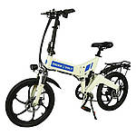 "Електровелосипед ZM TigerVolt 20, білий, колеса 20"", 7-швидкісною, моторколесо 350W, акумулятор 36V 7,5 Ah (270Wh)"