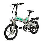 "Електровелосипед ZM TigerVolt 20, сірий, колеса 20"", 7-швидкісною, моторколесо 350W, акумулятор 36V 7,5 Ah (270Wh)"