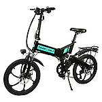 "Електровелосипед ZM TigerVolt 20, чорний, колеса 20"", 7-швидкісною, моторколесо 350W, акумулятор 36V 7,5 Ah (270Wh)"