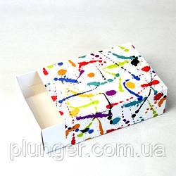 Коробка-пенал універсальна для цукерок, печива, зефіру, мілований картон Плями