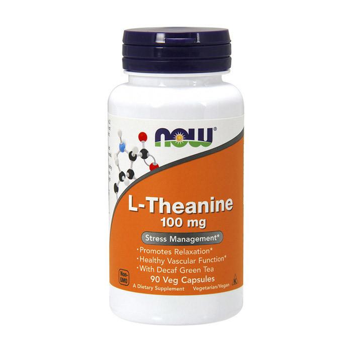 Л-теанин Now Foods L-Theanine 100 mg (90 капс) нау фудс