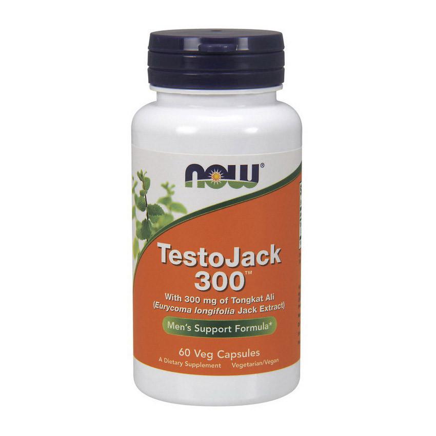 Бустер тестостерона Now Foods Testo Jack 300 (60 капс) нау фудс тісто джек
