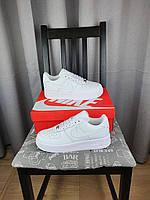 Мужская обувь на весну-осень Найк Аир Форс 1 белая Кроссовки белого цвета Nike Air Force 1 Low Classic White