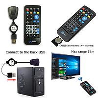 Пульт для компьютера, USB Пульт ДУ для ПК ноутбука,  Дистанционное управление ПК пульт с мышкой до 18 м, фото 1