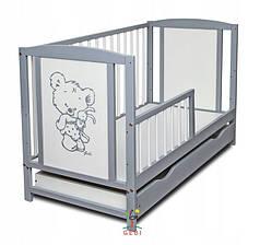 Детская кроватка Bobas Fairy с ящиком 60x120 см