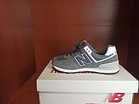 Стильные кроссы для девушки. Кроссы замшевые для женщин серые New Balance 574 Grey White.