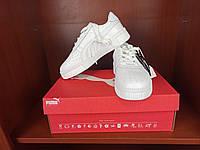 Полностью белые женские кроссы Пума Кали. Женские кроссовки Puma Cali Bold White белые.