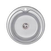Кухонная мойка Lidz 510-D 0,6 мм Decor (LIDZ510D06DEC160)