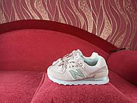 Женские кроссовки розовые с серебряним значком Нью Беленс. Розовые кроссы девушке New Balance 574.