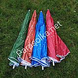 Пляжний зонт зелений з краплями 2,2 метра, фото 3