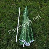 Пляжний зонт зелений з краплями 2,2 метра, фото 4