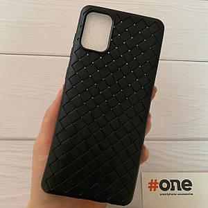 Чехол для Samsung Galaxy A71 плетеный тонкий чехол накладка на телефон самсунг а71 черный WVN