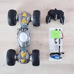 Игрушка машинка перевёртыш Overlord Hyper Tumble 2488, Трюковый вездеход на радиоуправлении с подстветкой 40см