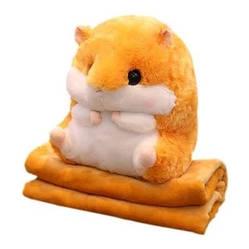 Плед трансформер игрушка Хомяк 3в1 (Игрушка подушка плед), Подарок на День Рождения