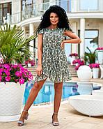 Легке шифонове плаття міні з воланами, фото 3