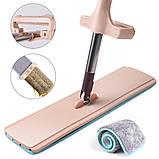 Швабра лентяйка Spin MOP 360 телескопическая с отжимом для уборки и мытья пола, Швабра с отжимом спин моп, фото 2