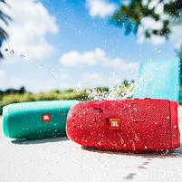 Беспроводная водонепроницаемая блютуз колонка JBL Charge 3 Bluetooth портативная музыкальная акустика красная, фото 2