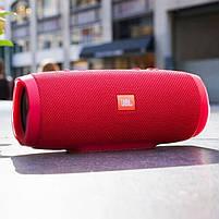 Беспроводная водонепроницаемая блютуз колонка JBL Charge 3 Bluetooth портативная музыкальная акустика красная, фото 6