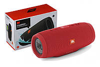 Беспроводная водонепроницаемая блютуз колонка JBL Charge 3 Bluetooth портативная музыкальная акустика красная, фото 5