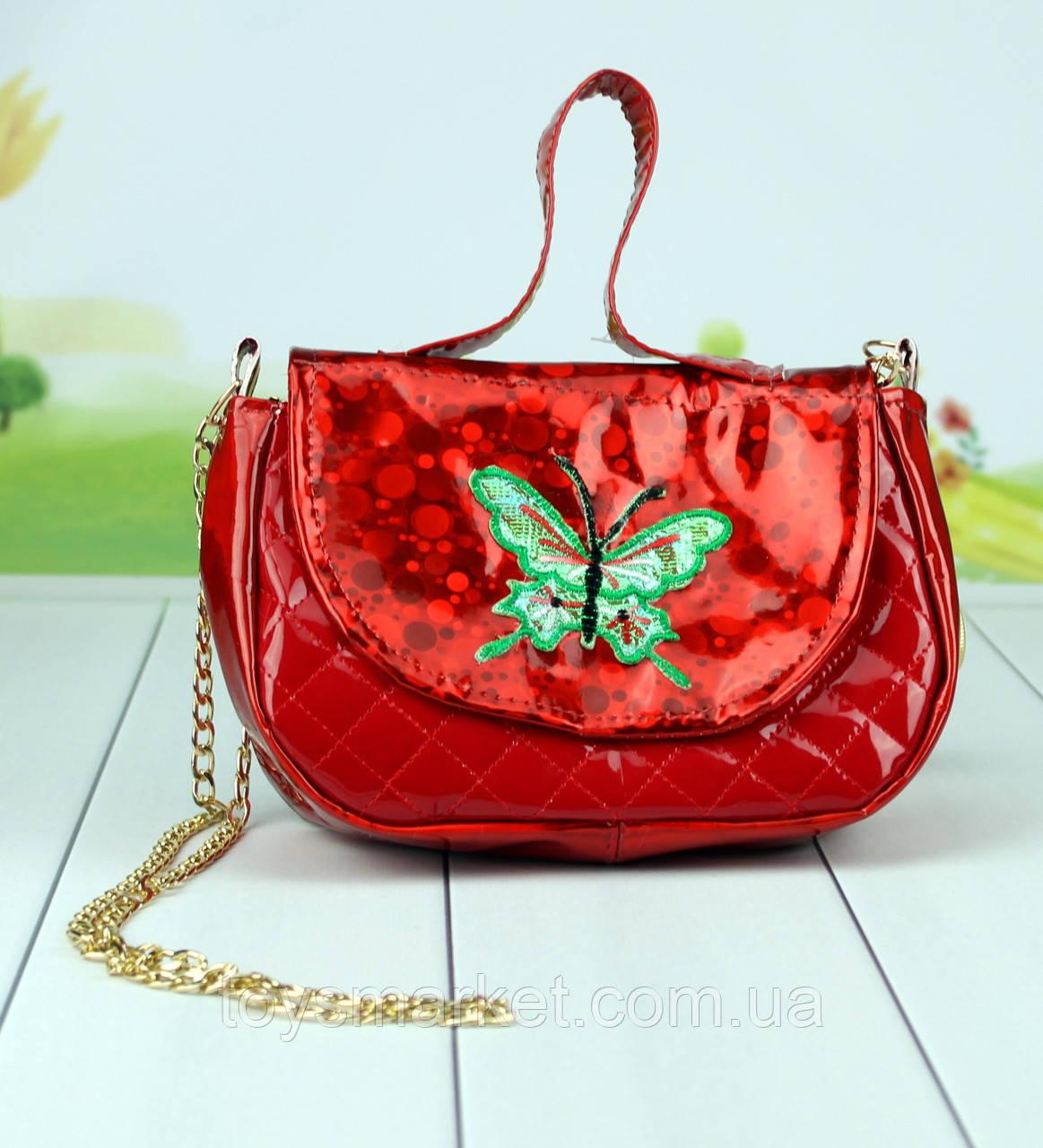 Дитяча сумка Мупси червоного кольору 21 див.