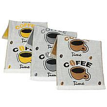 Рушник кухонне Coffee, льон 25х50см
