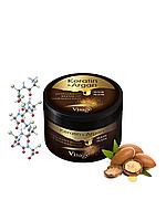 Маска для оздоровления волос Unice Visage с кератином и аргановым маслом, 500 мл