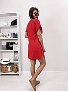 Практичне жіноче плаття з коротким рукавом на зав'язках, фото 5