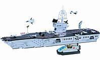 Конструктор Военный корабль АВИАНОСЕЦ 990 деталей Brick