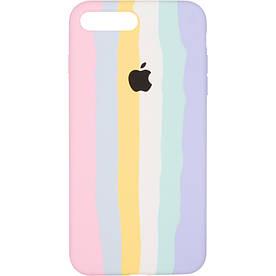 Чехол для iPhone 7 Plus силиконовый с микрофиброй внутри, Marshmellow