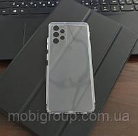 Чохол для Samsung A32 (4G) силіконовий прозорий (з заглушками)