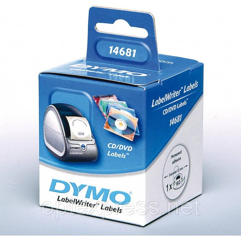 Етикетки DYMO для CD/DVD S0719250 для принтера  DYMO LabelWriter 450