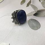 Сапфир кольцо 18,5 размер кольцо с камнем натуральный сапфир в серебре кольцо с сапфиром., фото 6