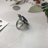 Сапфір кільце 16,8 розмір кільце з каменем натуральний сапфір в сріблі кільце з сапфіром., фото 5