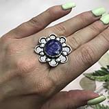 Сапфір кільце 16,8 розмір кільце з каменем натуральний сапфір в сріблі кільце з сапфіром., фото 2