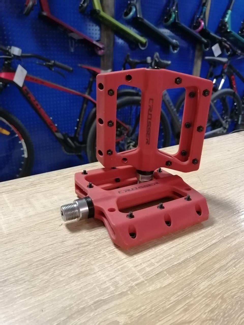Педали велосипедные CROSSER HF-633 пара красные