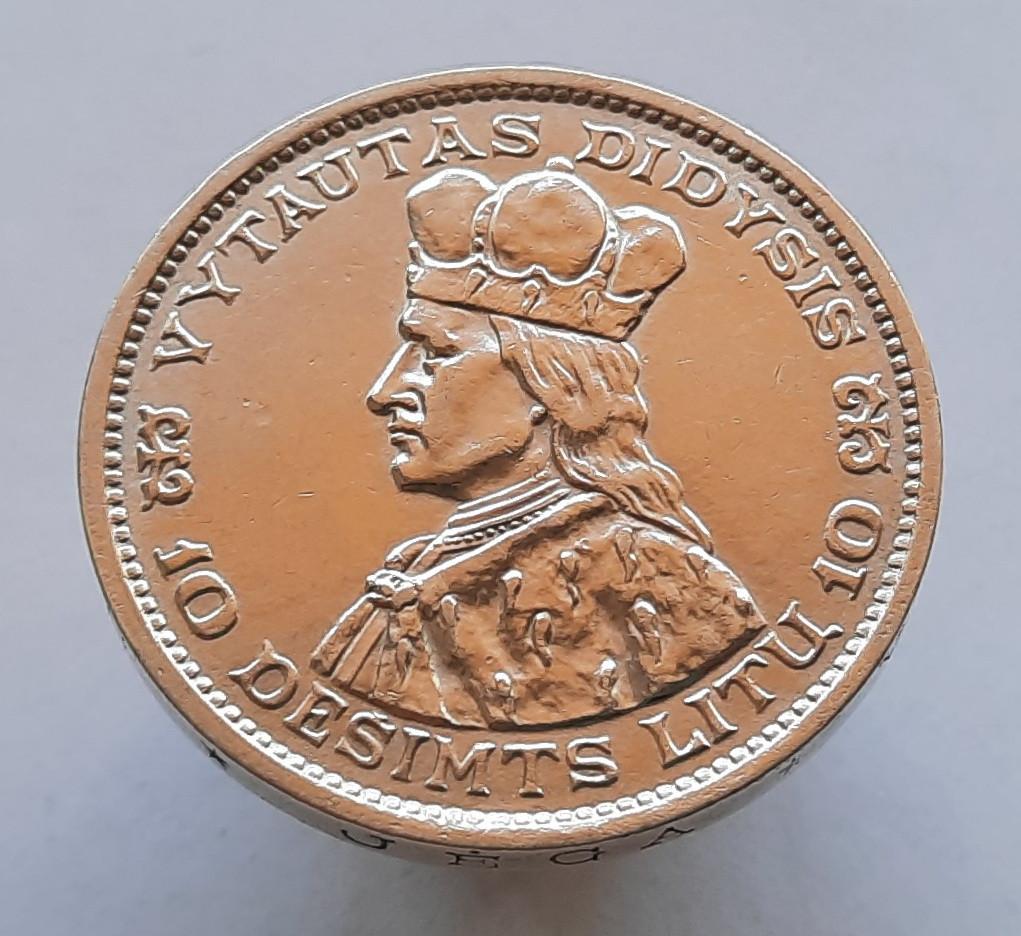 Литва 10 лит 1936 - Витовт — великий князь литовский Серебро