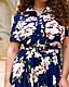 Красивое женское платье-рубашка с цветочным принтом, фото 3